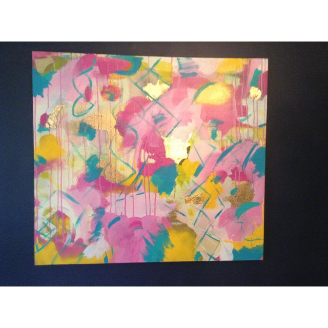 Michelle Chong Abstract Mixed Media on Canvas Pastel Painting For Sale - Image 9 of 9