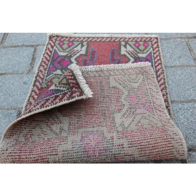 Antique Turkish Carpet - 1′6″ × 3′1″ - Image 10 of 11