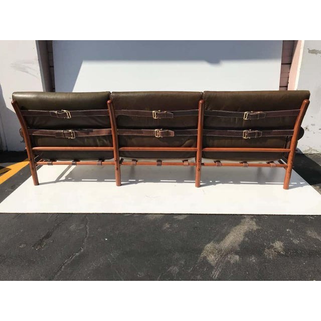 """Arne Norell Arne Norell Leather """"Kontiki"""" Sofa For Sale - Image 4 of 13"""