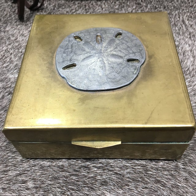 Vintage Brass Sand Dollar Box - Image 2 of 11