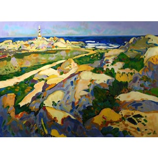 """Manel Anoro """"Menorca"""" on Paper Hand Signed Landscape For Sale"""