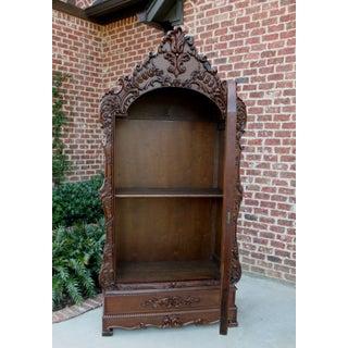 Antique French Walnut Rococo Mirror Wardrobe Armoire Cabinet Clothes Closet Preview