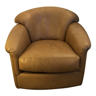 Contemporary Leather Swivel/Rocking Chair For Sale