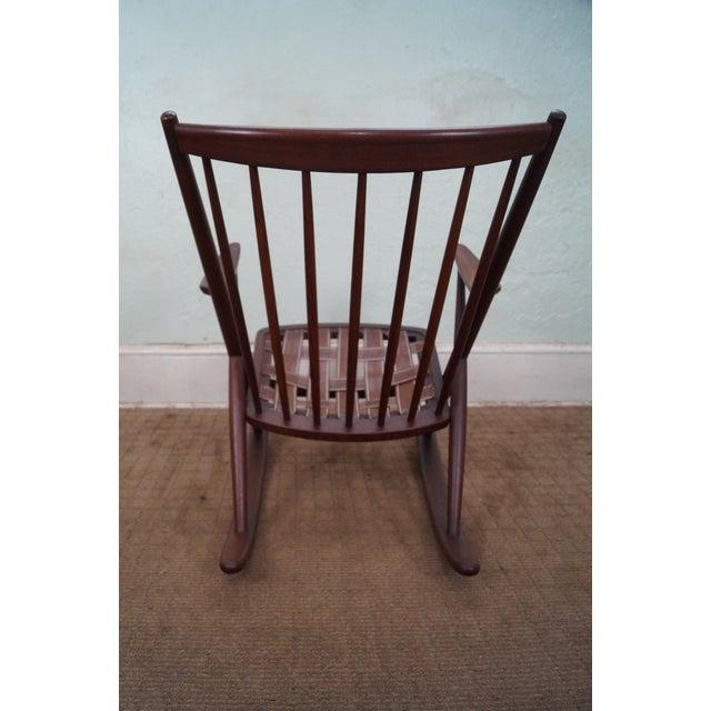 Frank Reenskaug Bramin Danish Teak Rocking Chair - Image 4 of 6