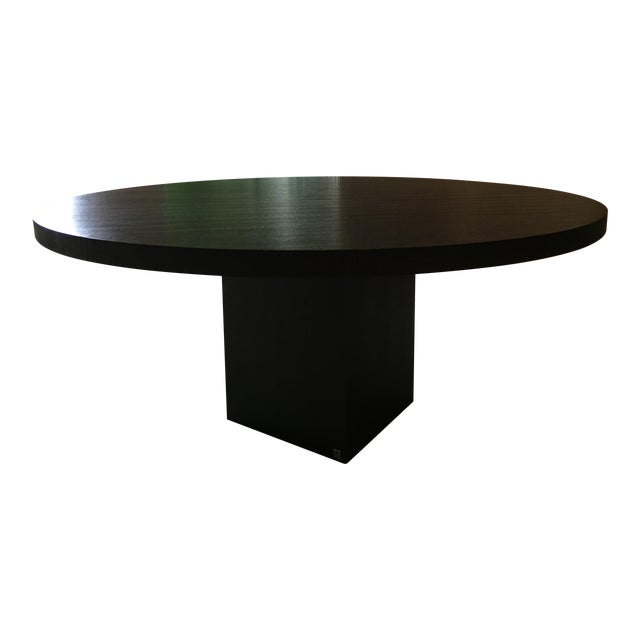 Armani Casa Black Round Dining Table - Image 1 of 11