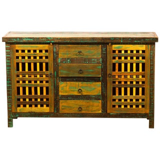 Save the Planet Handmade Reclaimed Solid Wood Buffet Sideboard For Sale