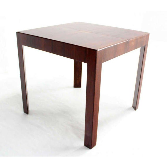 Oiled Walnut Italian Mid-Century Modern Game or Dining Table with One Leaf For Sale In New York - Image 6 of 8