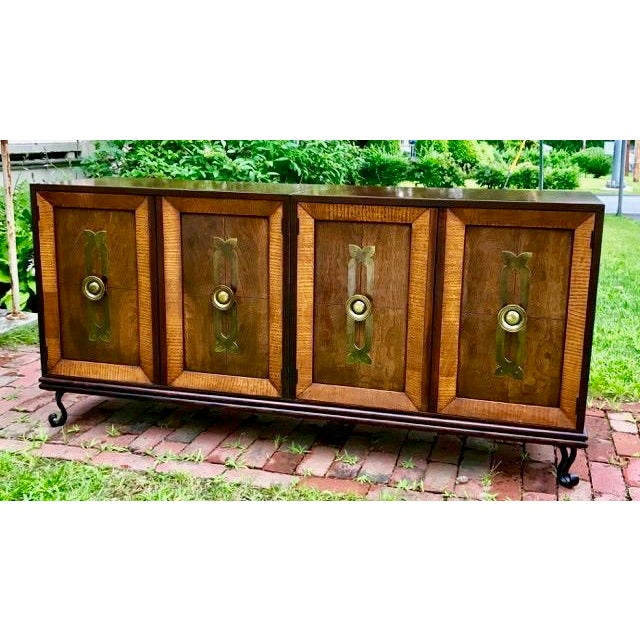 Mid Century Renzo Rutili for Johnson Furniture Modular Cabinet Grouping 1950's For Sale - Image 12 of 12