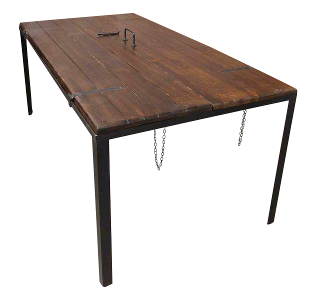 Repurposed Door Panel Dining Table