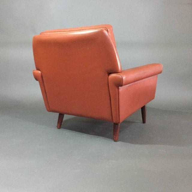 Pair 1960s of Danish Leather Lounge Chairs For Sale In New York - Image 6 of 8