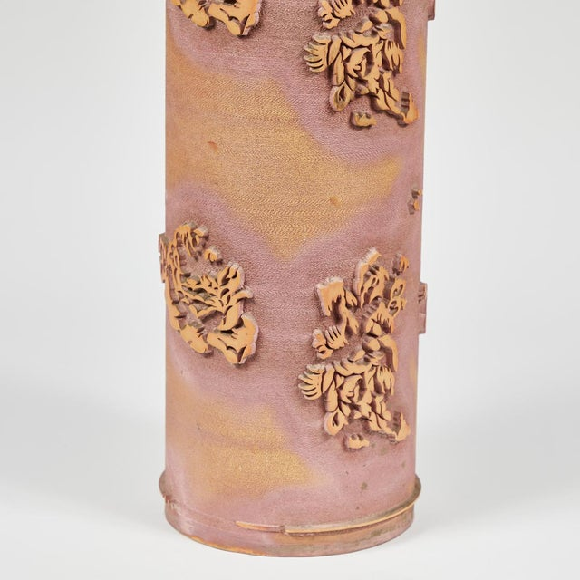Textile Print Roll in Ceramic From Early 20th Century France For Sale - Image 4 of 5