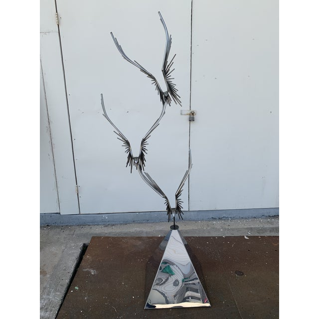 Mid-Century Modern 6 Foot Eagles in Flight Sculpture by Curtis Jere For Sale - Image 3 of 11