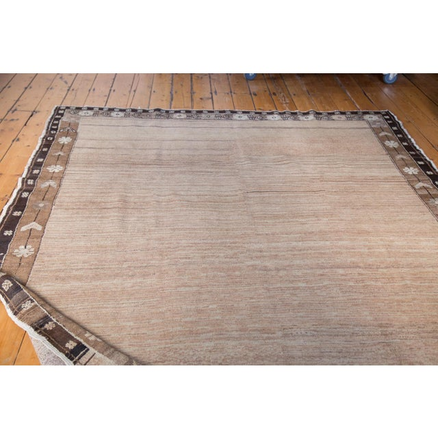 """Distressed Oushak Carpet - 7' X 9'1"""" For Sale - Image 9 of 11"""