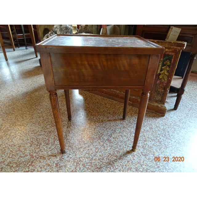 French Marble Side Table For Sale In New Orleans - Image 6 of 13