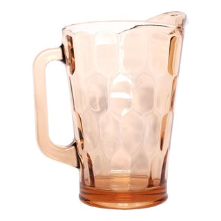 1960s Pink Depression Glass Pitcher For Sale