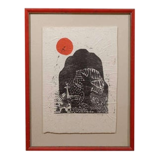 Clausland Mountain, a Woodblock by Artist Jim Tanaka For Sale