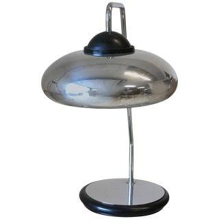 Chrome and Black Enamel Desk Lamp by Stilnovo For Sale