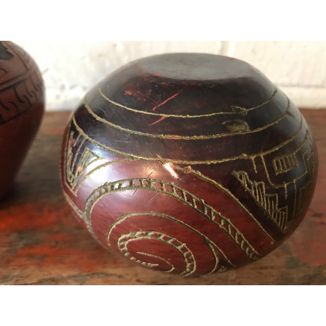 Brown Navajo Brown Pottery Vases - a Pair For Sale - Image 8 of 10