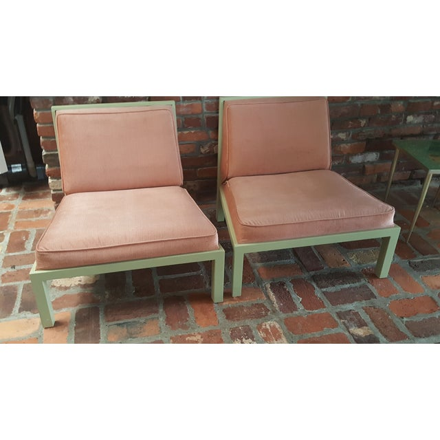 Michael Taylor for Baker Slipper Chairs - A Pair - Image 4 of 6