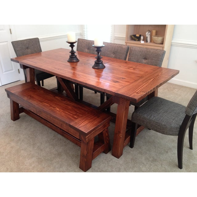 Rustic Farmhouse Dining Table - Image 5 of 5