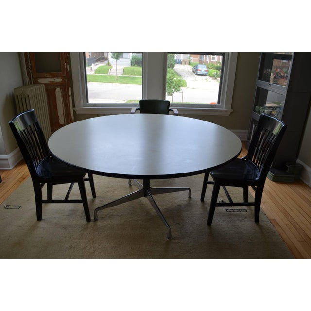 Mid-Century Oversized Round Dining Table - Image 8 of 8