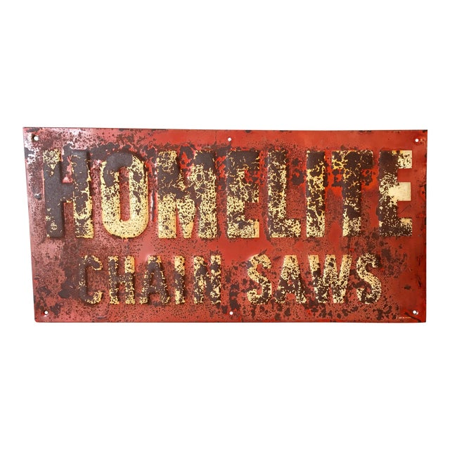 Vintage Chainsaw Advertising Sign - Image 1 of 8