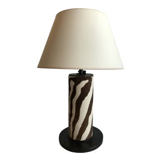 Ralph Lauren Faux Zebra Hide Table Lamp For Sale