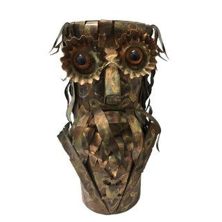 1970's C Jere Brutalist Style Owl Umbrella Stand