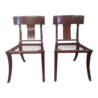 Mid Century Modern Klismos Chairs - a Pair For Sale