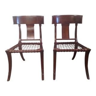 Mid Century Modern Klismos Chairs - a Pair