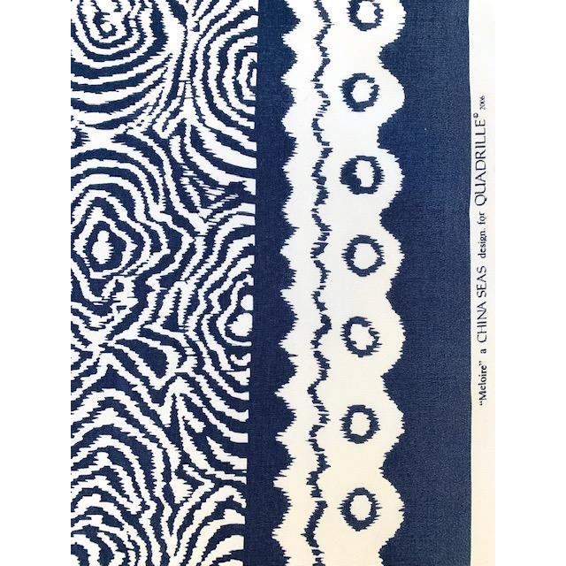 Quadrille Alan Campbell Meloire Reverse Suncloth Fabric For Sale - Image 4 of 6