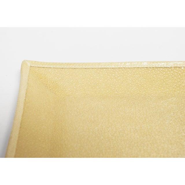 Fabio Ltd Ivory Shagreen Tray by Fabio Ltd For Sale - Image 4 of 7