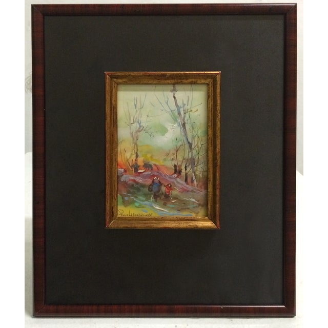 Framed Watercolor Paintings - A Pair - Image 6 of 7