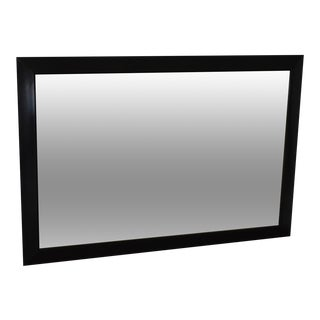 Black Ebonized Frame Milo Baughman Style Mid Century Wall Mirror For Sale