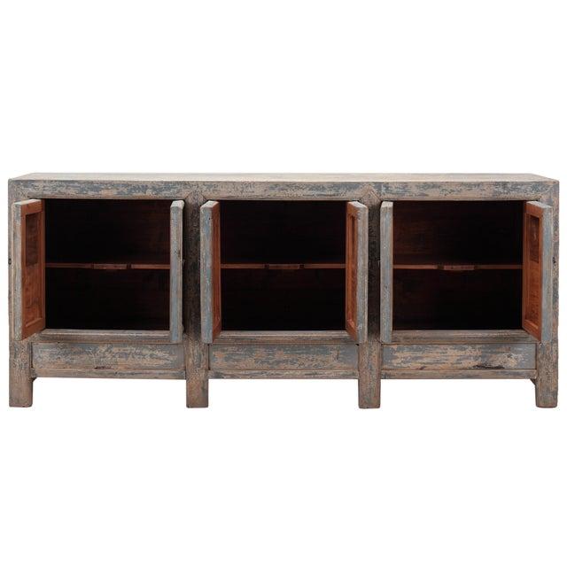 Antique Sarreid LTD Chinese Pine Cabinet - Image 4 of 4