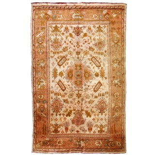 1880s, Handmade Antique Turkish Oushak Rug For Sale
