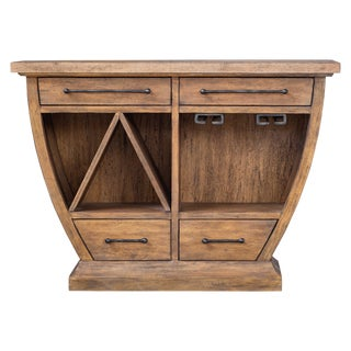 Curved Wood Bar Cabinet For Sale
