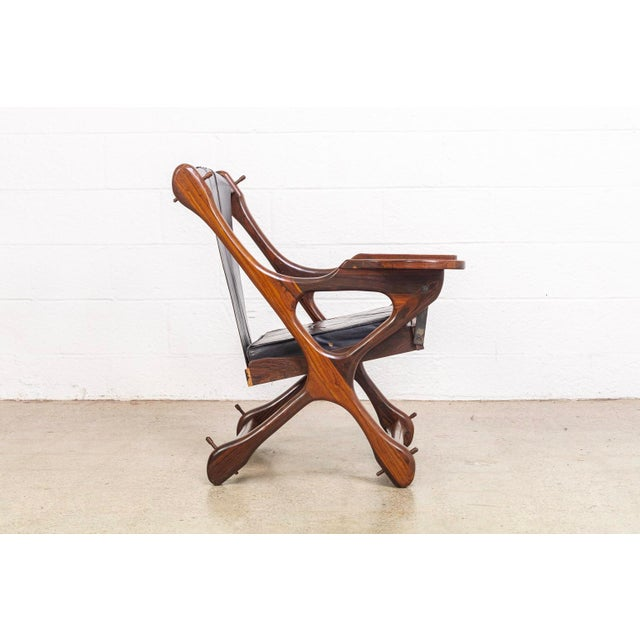 1960s Mid Century Mexican Modern Don Shoemaker Swinger Chair With Ottoman For Sale - Image 5 of 13