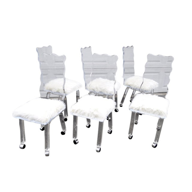 Mod Lucite Dining Chairs - Set of 6 - Image 1 of 8