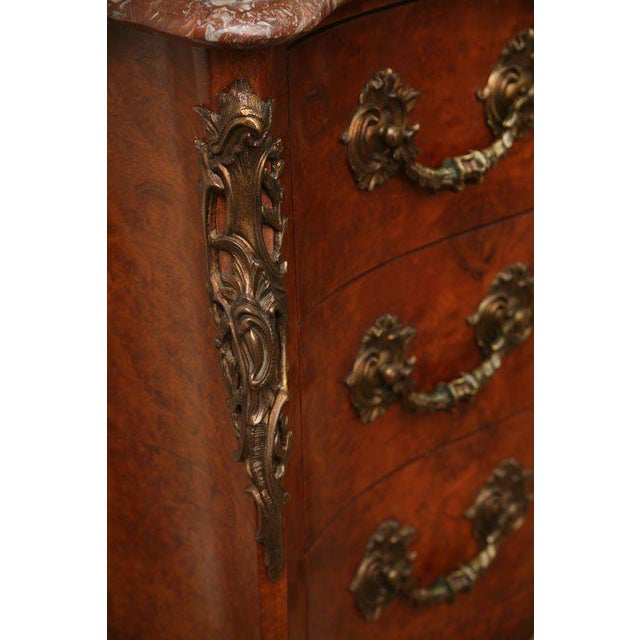 Antique Louis XV Chest of Drawers With Verona Marble Top For Sale - Image 4 of 10