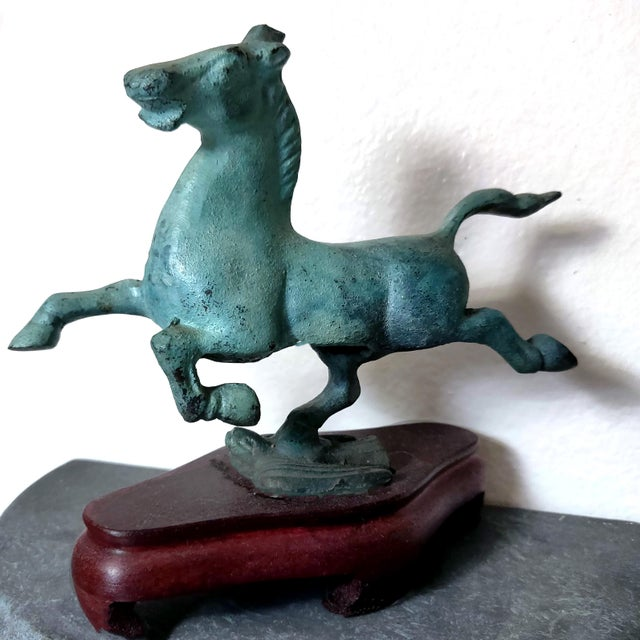 Asian 1990s Chinese Replica Figurine of the Flying Horse of Gansu For Sale - Image 3 of 8