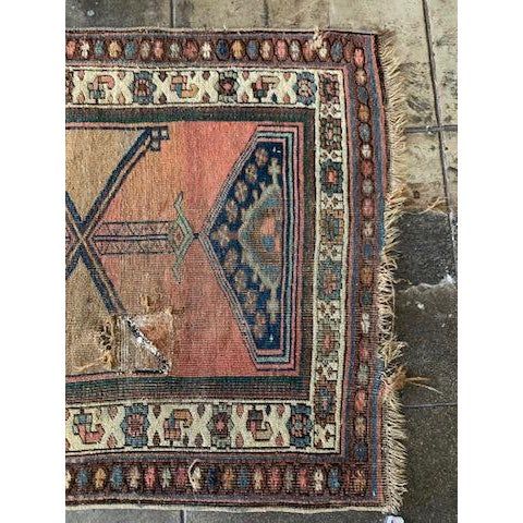 """Geometric Antique Turkish Runner - 12' 4"""" X 3' 8.5"""" For Sale - Image 4 of 10"""
