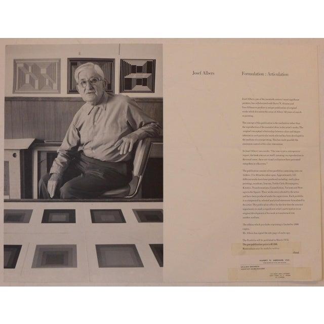 Paper Josef Albers Silkscreen, 1972 For Sale - Image 7 of 9