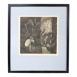 1928 Etching by Roberto Montenegro For Sale