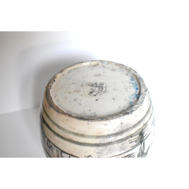 Antique C. 1840 Chinese Canton Blue & White Ginger Jar For Sale - Image 11 of 13