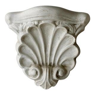 Vintage Shell Shape Plaster Wall Shelf For Sale