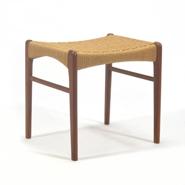 Danish Modern Peder Kristensen Teak Stool by Glyngore Stolefabrik For Sale - Image 3 of 9