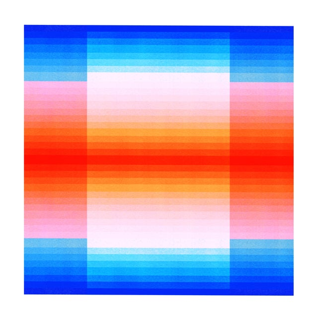 "Abstract ""Spectrum 2"" Color Space Series 50 Op Art Print by Jessica Poundstone For Sale - Image 3 of 3"