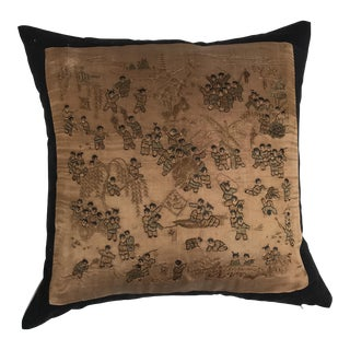 Chinese Silk Hand Embroidered 100 Children Pillow For Sale
