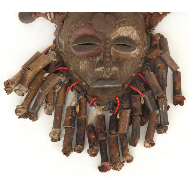 Mid 20th Century African Bamileke Tribal Mask From Cameroon W/Horns For Sale - Image 5 of 9